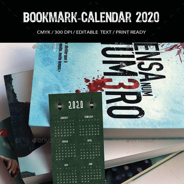 Bookmark-Calendar 2020