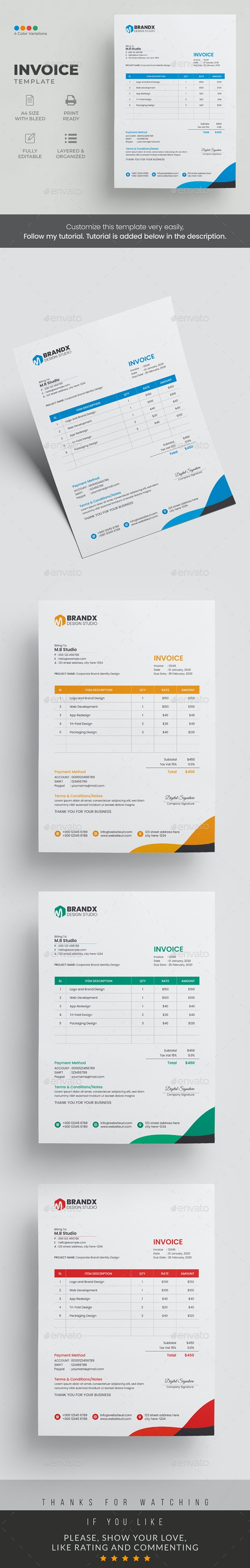 Invoice Template - Stationery Print Templates
