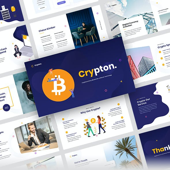 Crypton - Cryptocurrency & Blockchain PowerPoint Template