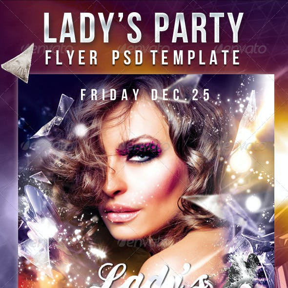 Lady's Party  - Flyer PSD Template