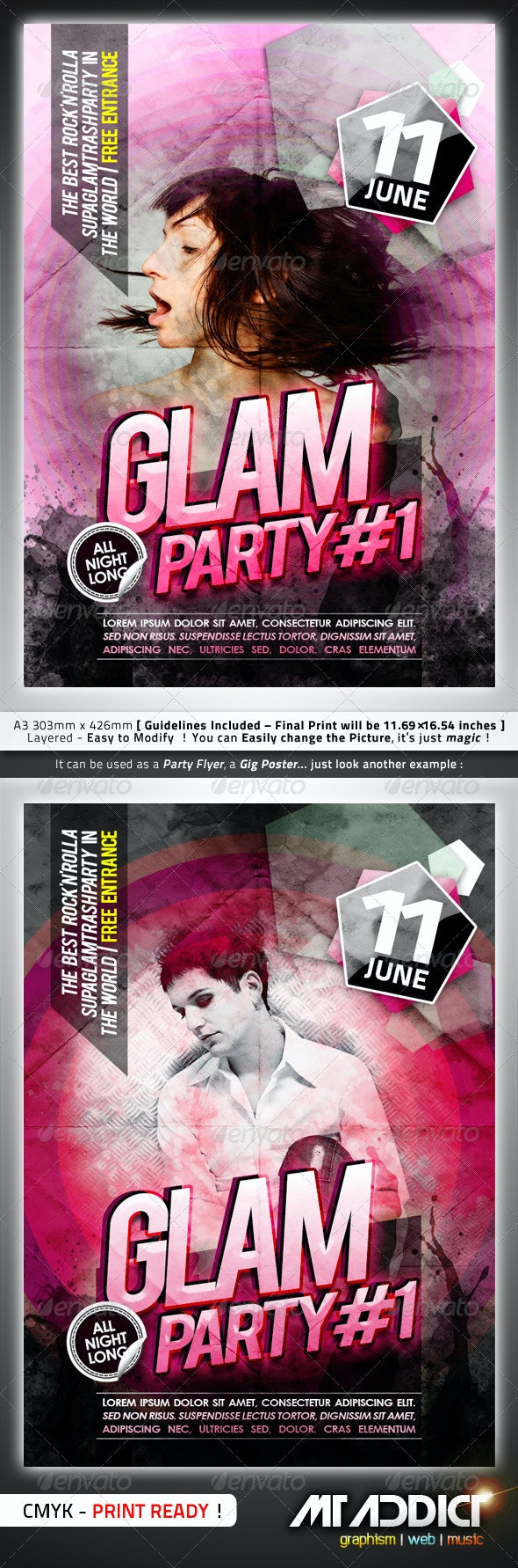 Glam Flyer / Poster - Clubs & Parties Events