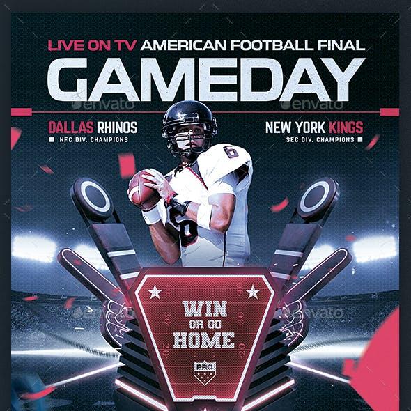 American Football Flyer v12 Football Match Template