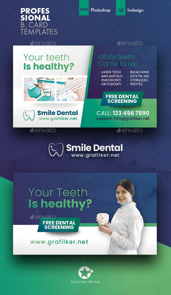 Dental Business Card Templates - Corporate Business Cards