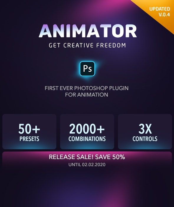 Animator Photoshop Plug-in for Animated Effects - Utilities Actions
