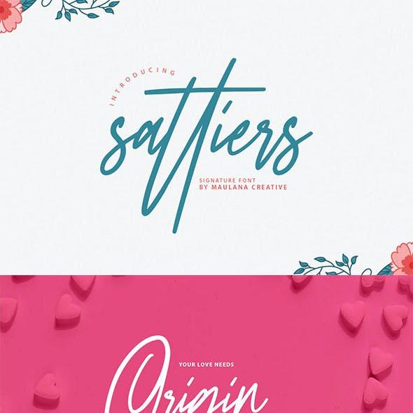 Sattiers Signature Font