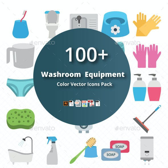 Washroom Equipment Color Vector Icon