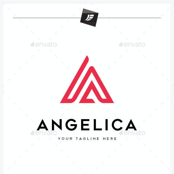 Letter A Angelica Logo