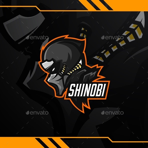 Shinobi Esport Logo Template - Humans Logo Templates