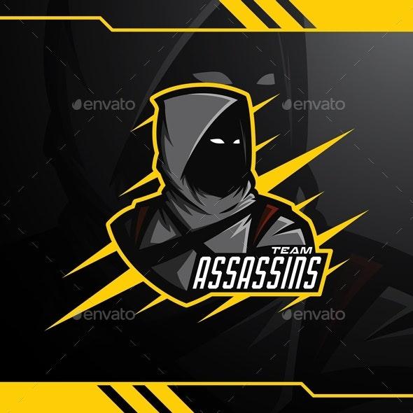 Assassins Esports Logo Template - Humans Logo Templates