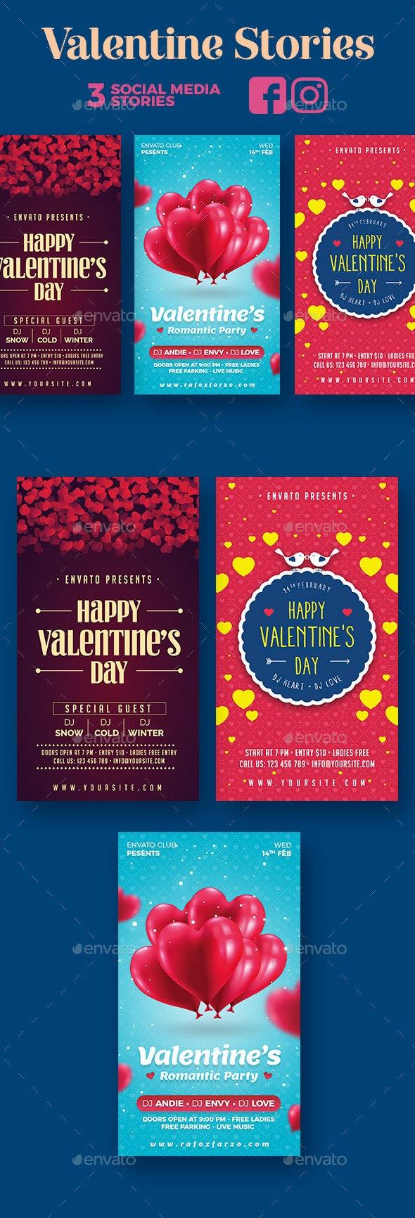 Valentine Stories - Social Media Web Elements