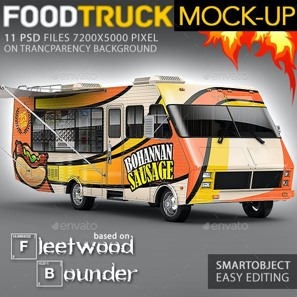 Food Truck, Step Van, Taco Truck, Mock-Up