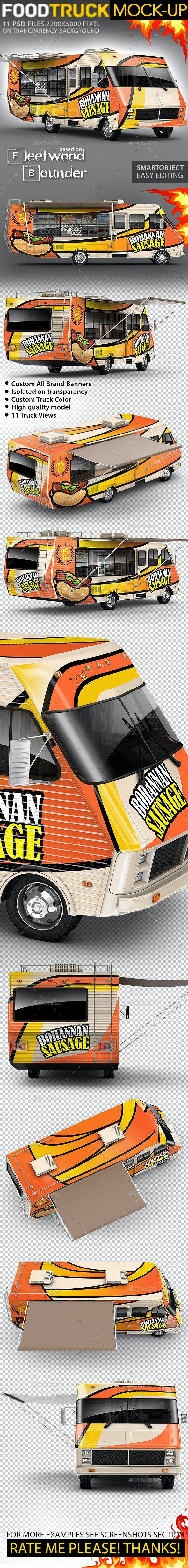 Food Truck, Step Van, Taco Truck, Mock-Up - Vehicle Wraps Print