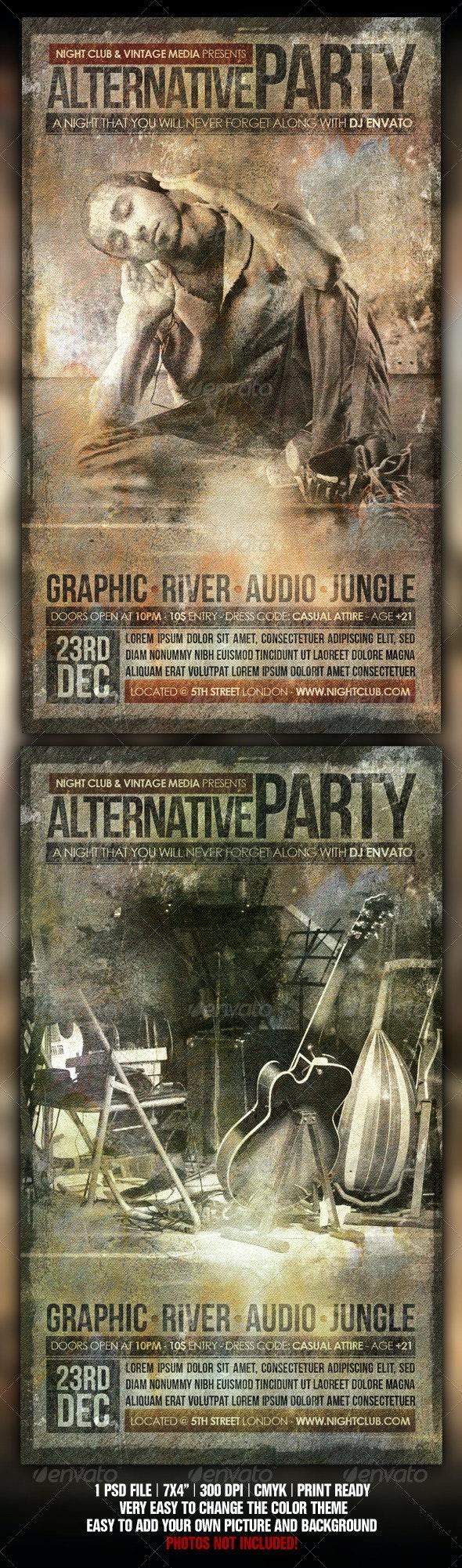 Vintage Party Flyer - Flyers Print Templates