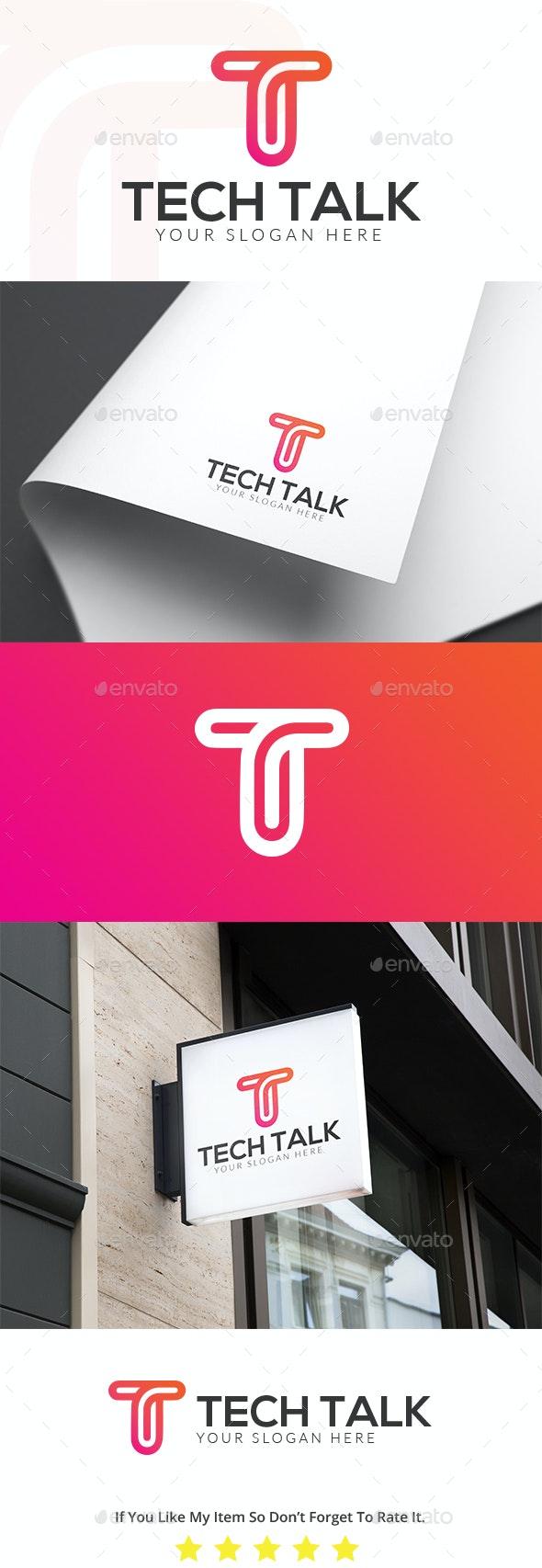 T Letter Logo Design Template
