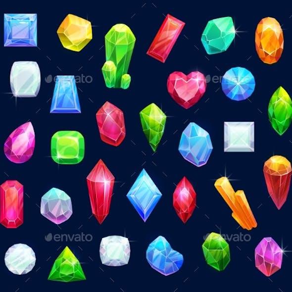 Jewelry Gemstones Gems and Diamond Crystals