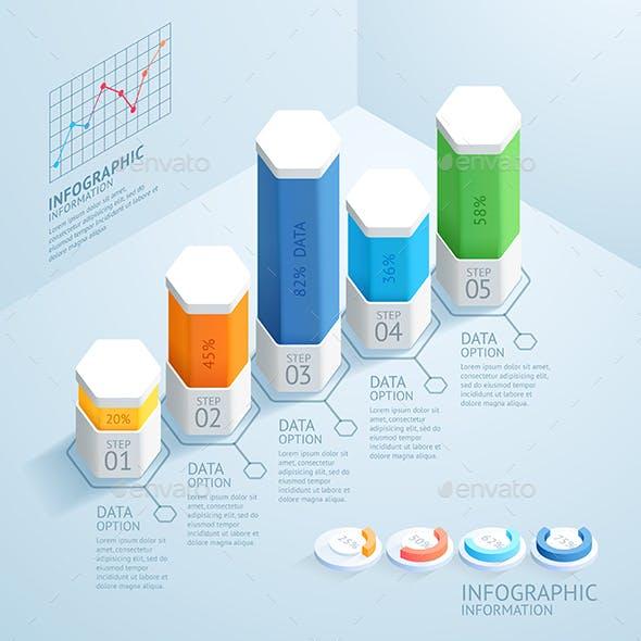 Modern Business Infographics Design Template.