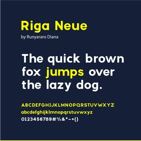 Riga Neue Sans Font