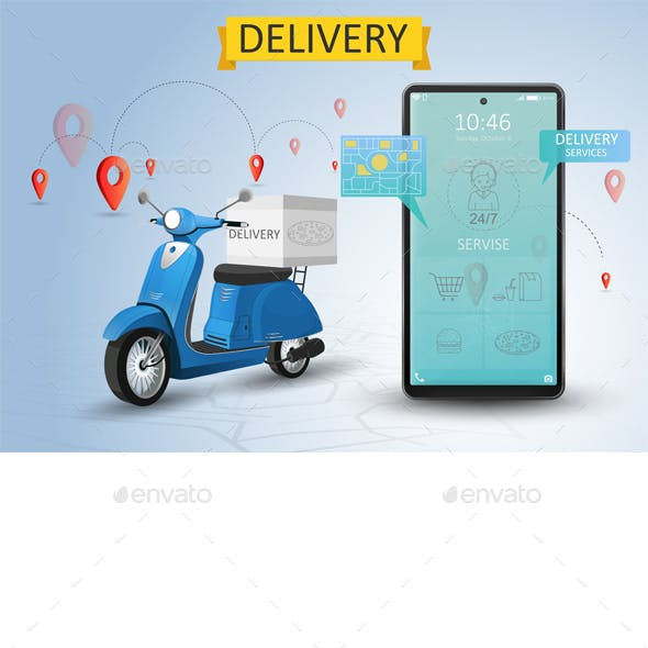 Online Delivery Service by Scooter