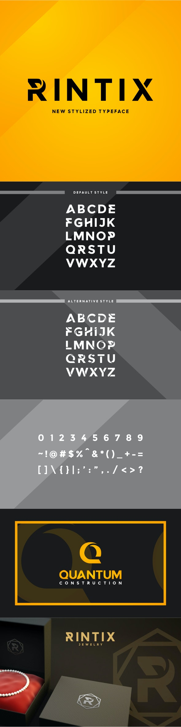Rintix - Stylized Font - Sans-Serif Fonts