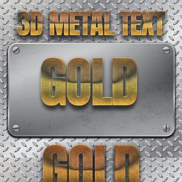 3D Metal Text Effects