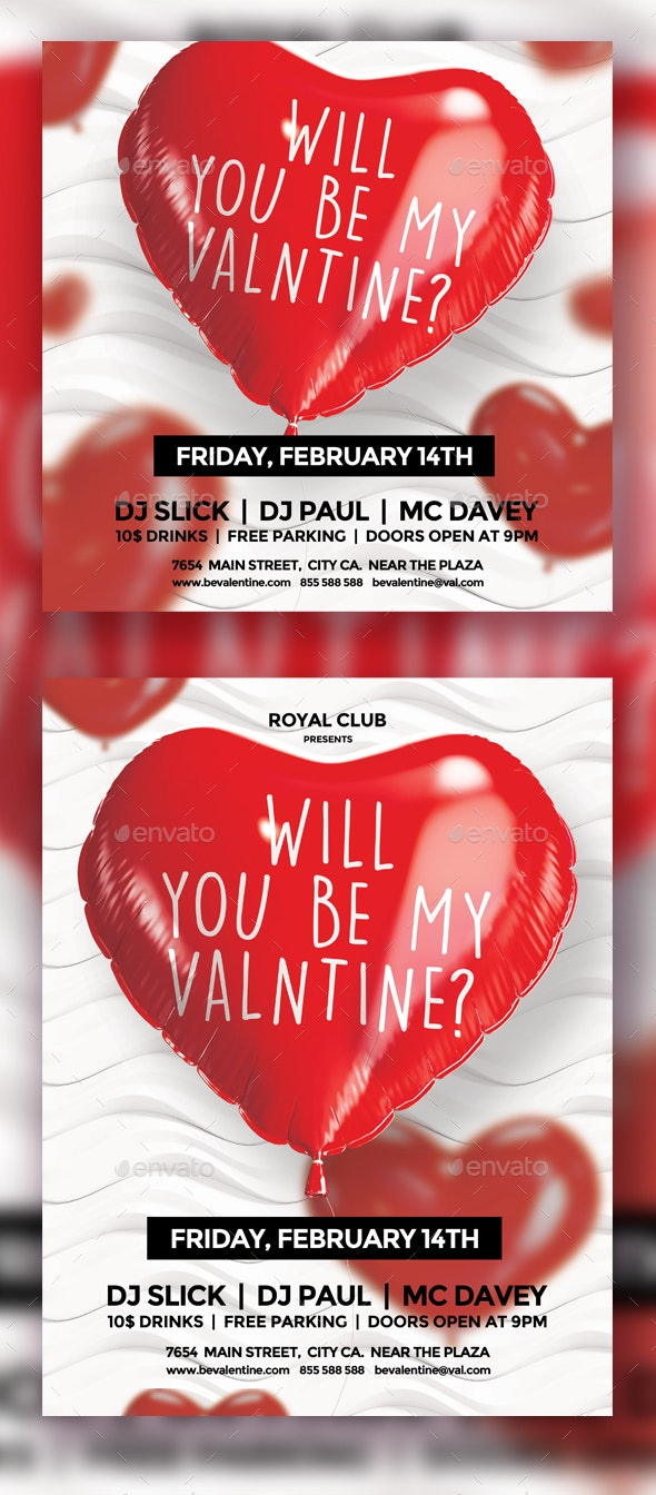 Valentine's Day Flyer Template Vol.1 - Holidays Events