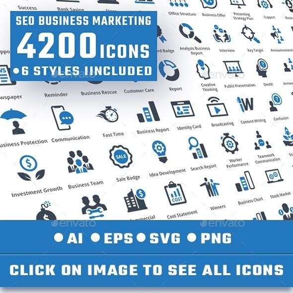 4200 Seo Business Marketing Icons