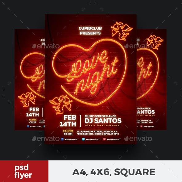 Neon Valentine Flyer