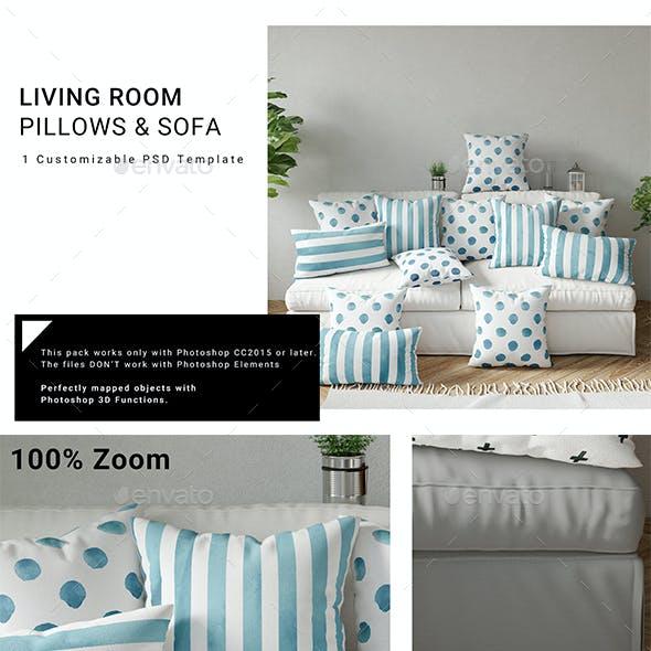 Pillows & Sofa Set