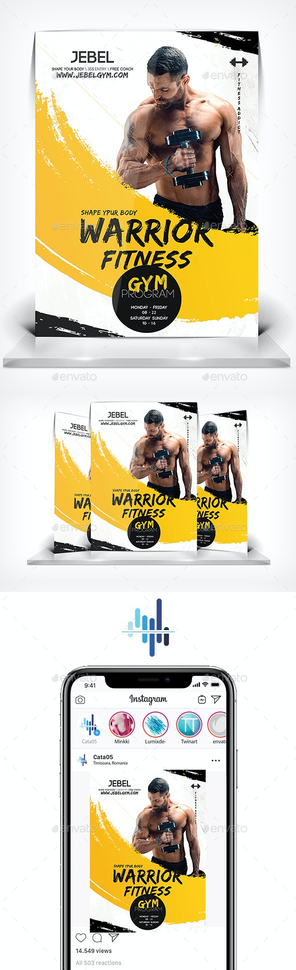 Warrior Gym Flyer - Flyers Print Templates