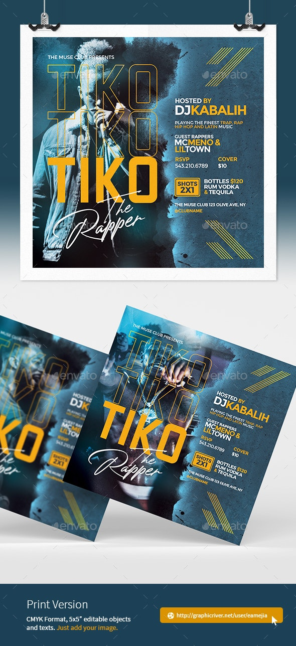 Rap Music Flyer - Clubs & Parties Events