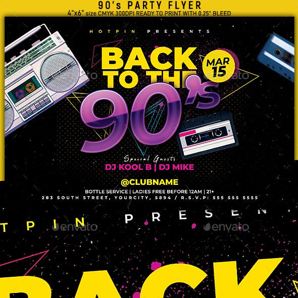 Disco 90s Party Flyer
