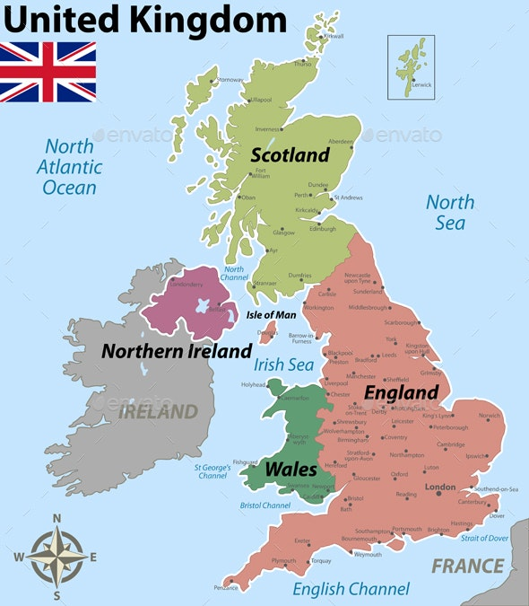 Map of United Kingdom with Counties by sateda2012 ...