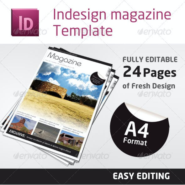 24 Pages Magazine Template in A4 Format
