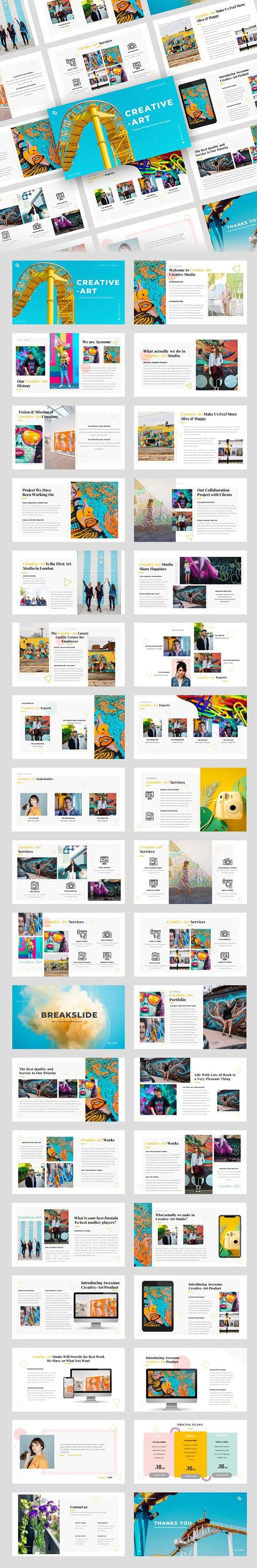 Creative-Art – Creative Business PowerPoint Template - Creative PowerPoint Templates