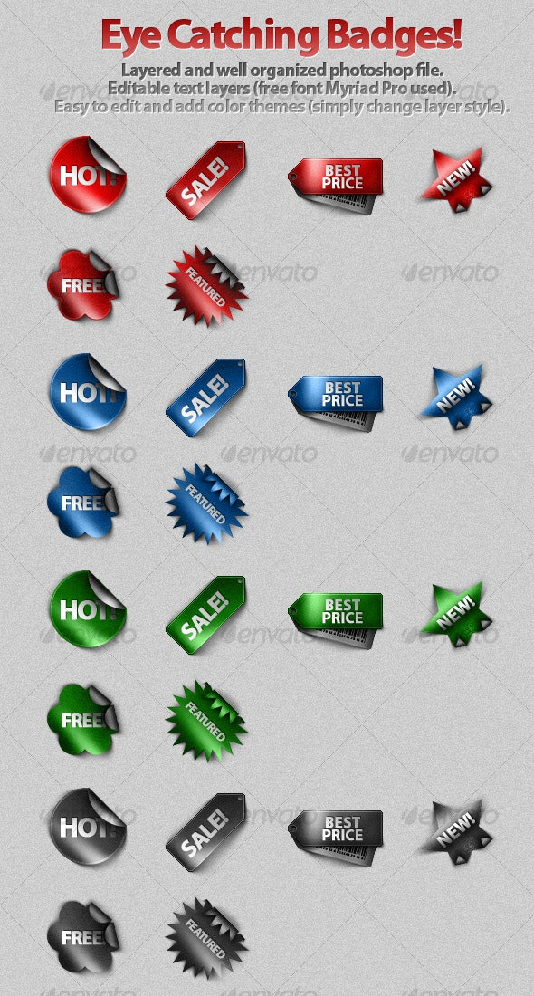 Eye Catching Badges and Price Tags! - Miscellaneous Web Elements