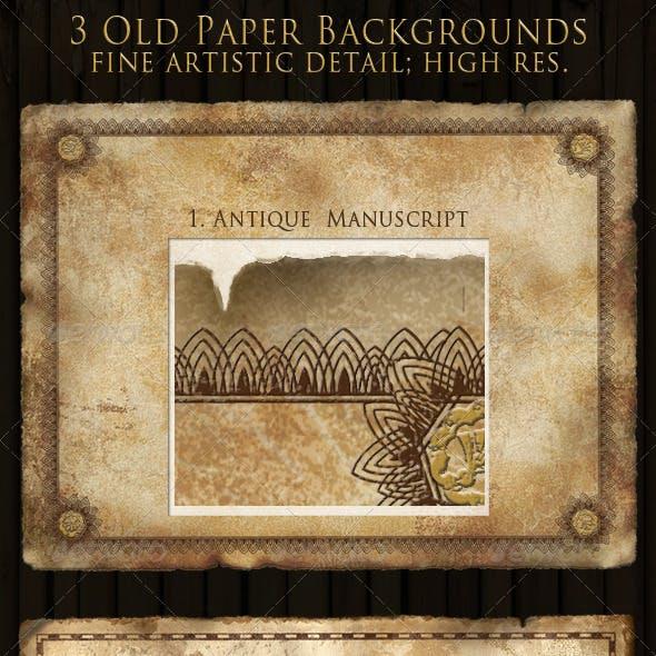 Antique, Vintage & Retro Paper Backgrounds