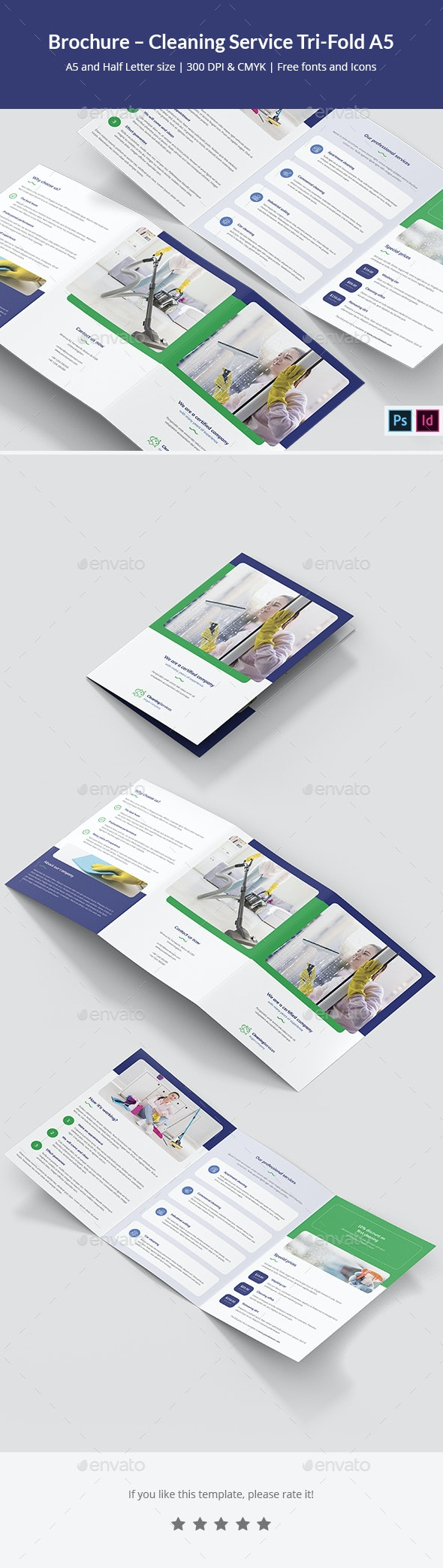 Brochure – Cleaning Service Tri-Fold A5 - Informational Brochures