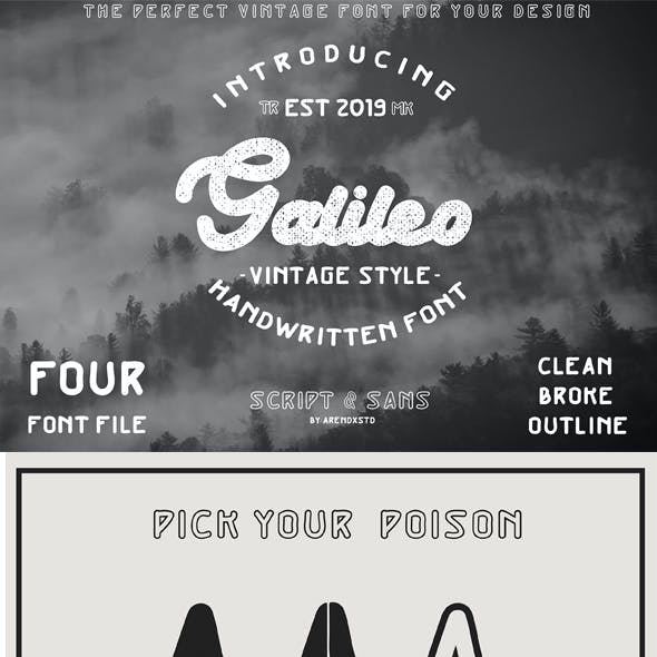 Galileo Vintage Font