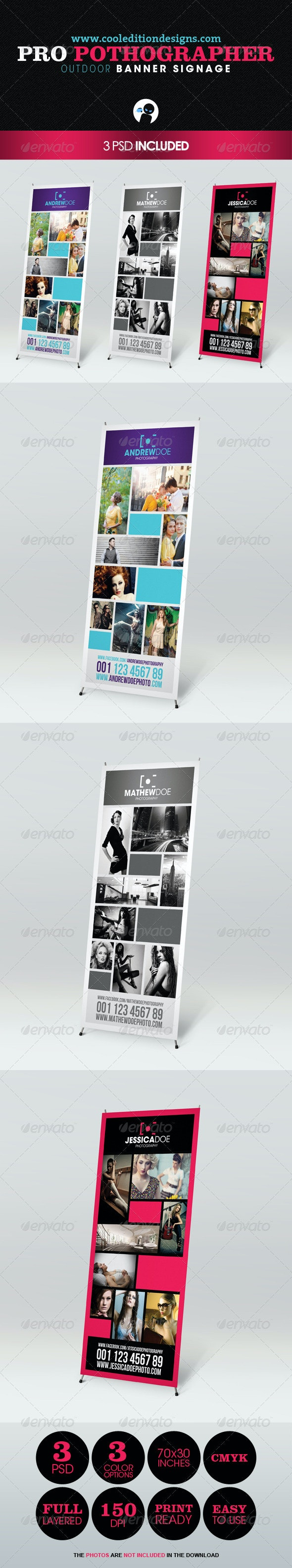 Pro Photographer Outdoor Banner Signage - Signage Print Templates
