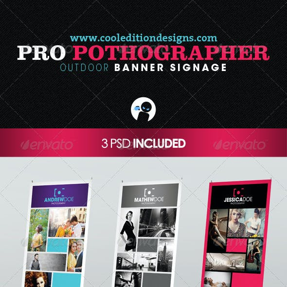 Pro Photographer Outdoor Banner Signage