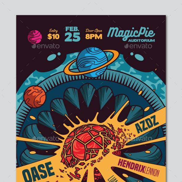 Space Indie Rock Flyer
