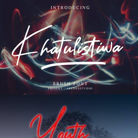 Khatulistiwa Brush Script Font
