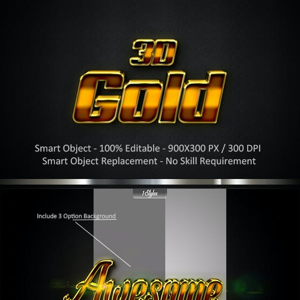 Gold 3D Style