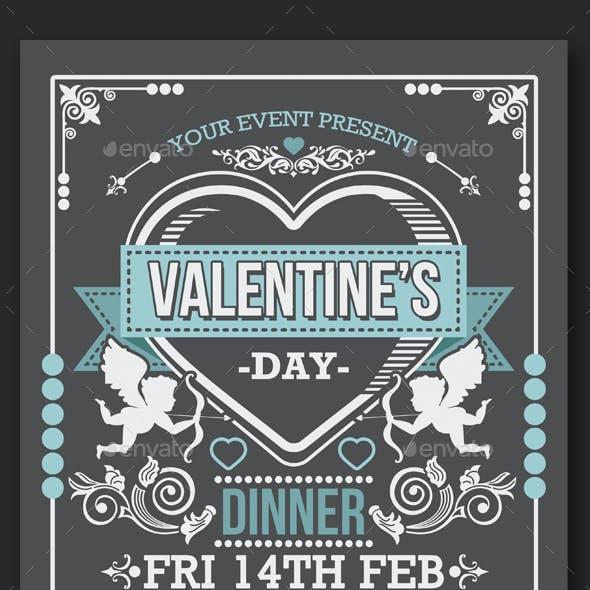 Valentine's Day Dinner Flyer