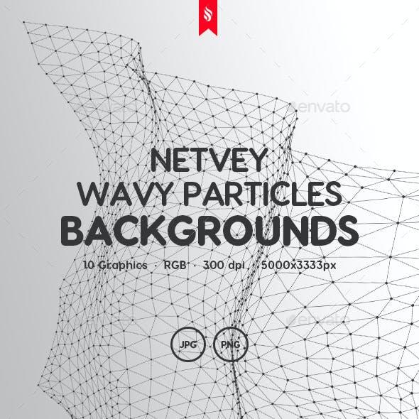 Netvey - Futuristic Wavy Particles Backgrounds