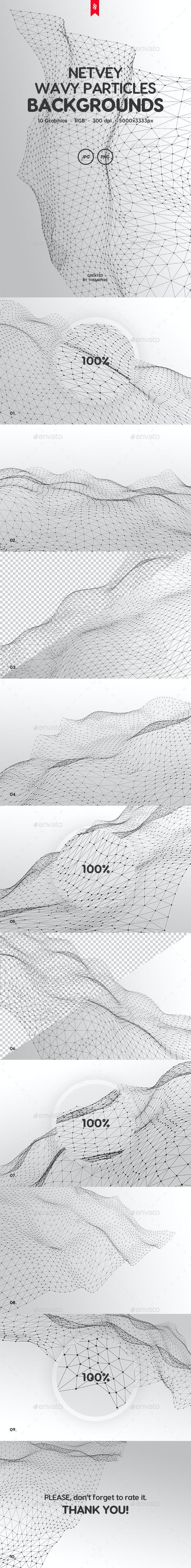 Netvey - Futuristic Wavy Particles Backgrounds - Tech / Futuristic Backgrounds