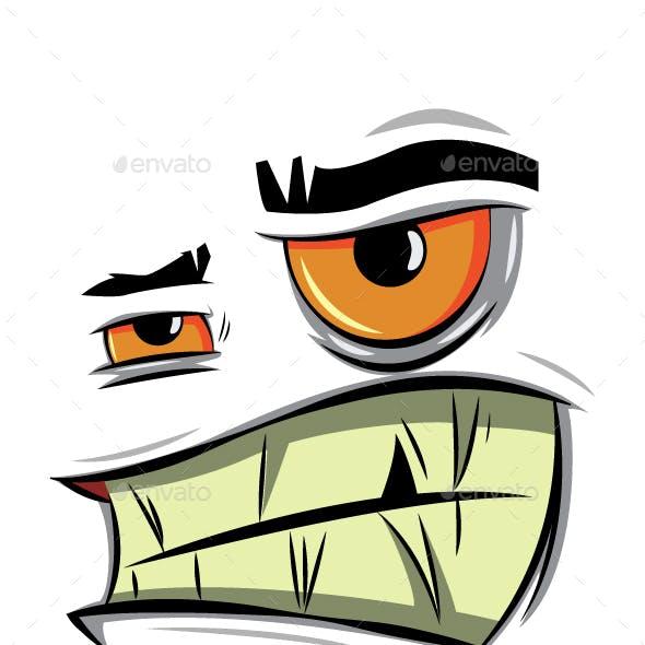Angry Cartoon Face Vector