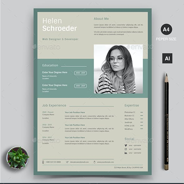 Creative Cv Design from graphicriver.img.customer.envatousercontent.com
