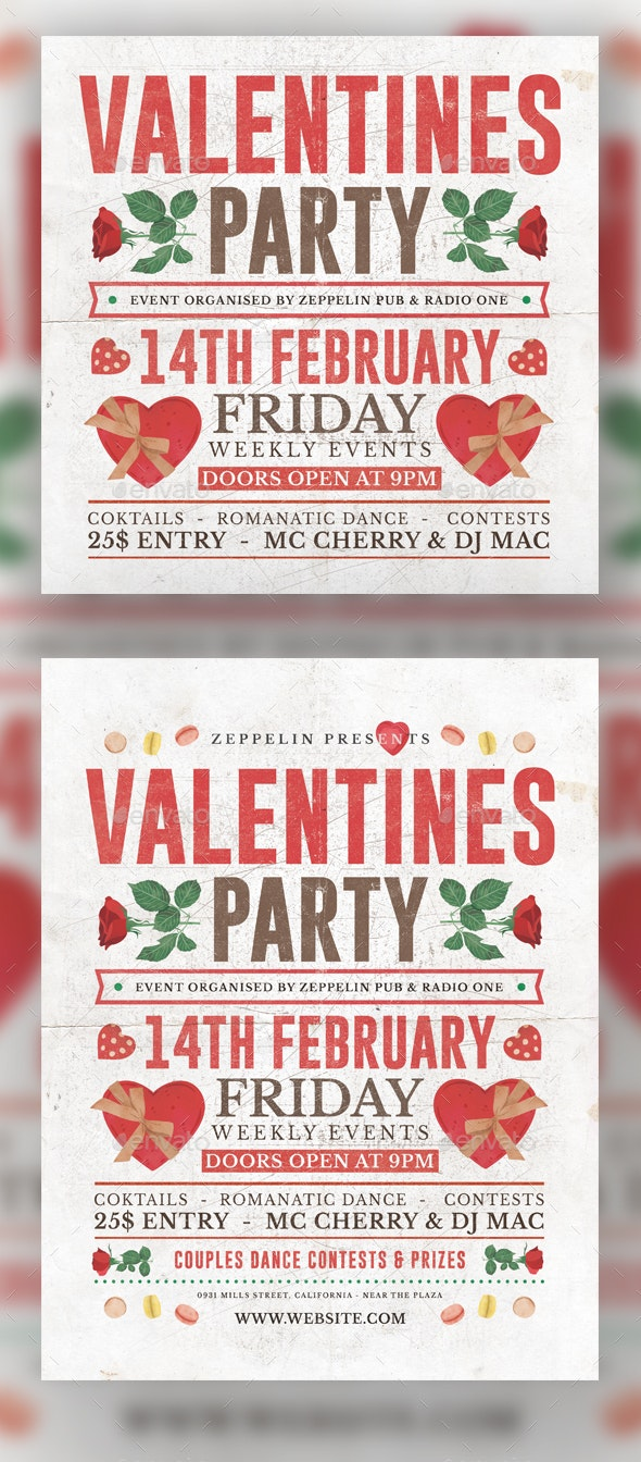 Valentine's Day Flyer Template Vol.3 - Holidays Events