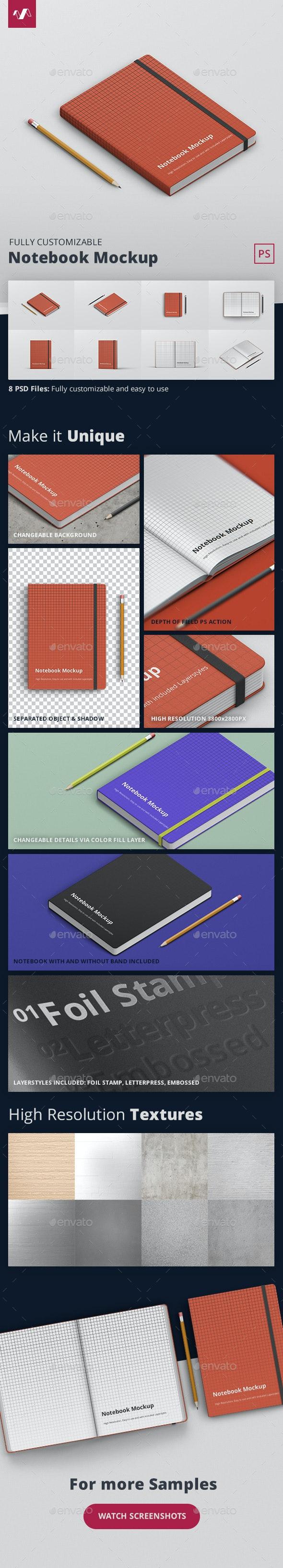 Notebook Mockup - Books Print